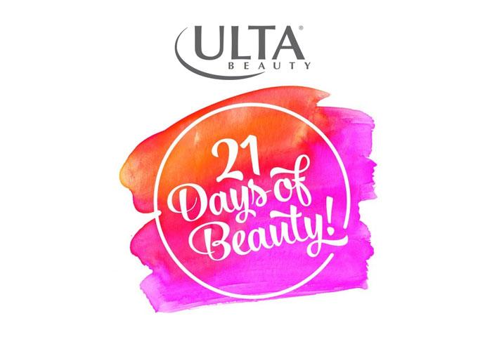 ULTA 21 days of beauty sales calendar