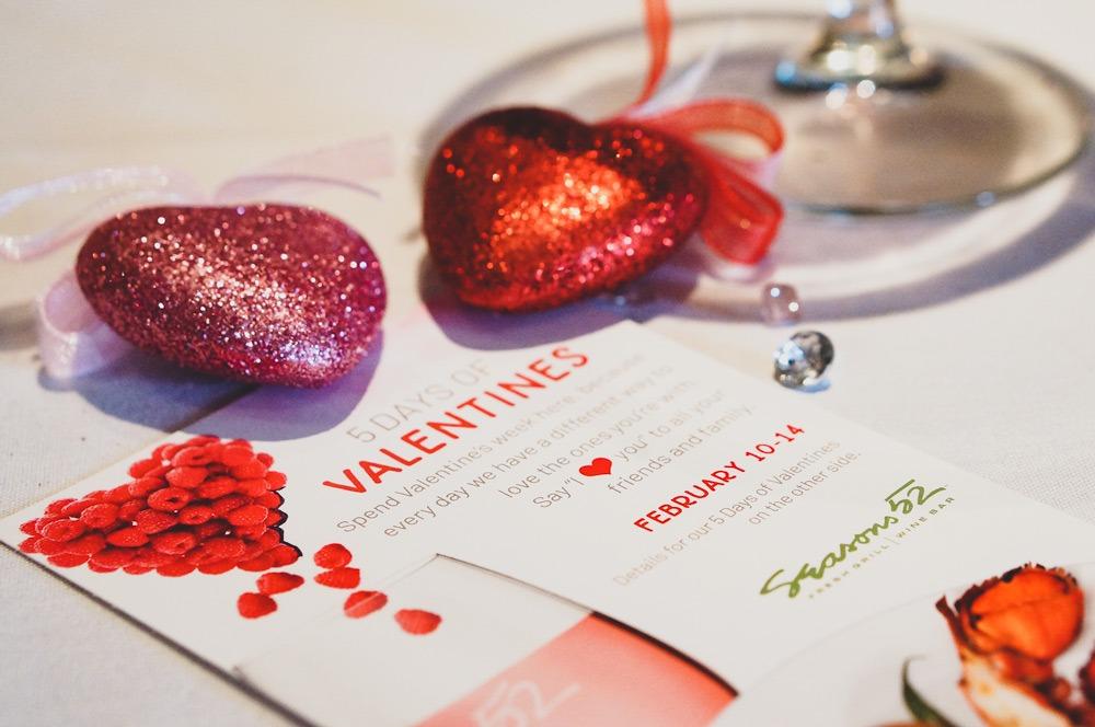 Seasons 52 Valentines Day menu